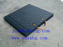 Square with anti slip, increase friction rough surface polyethylene Outrigger pad