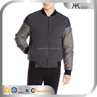 Jeans men's variegated quilt mixed bomber jacket, wholesale varsity jacket and student outer, youth coat laest design