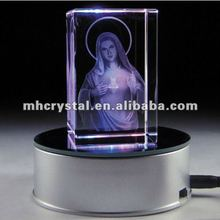 Virgin Mary 2D Laser Crystal Block MH-F0222