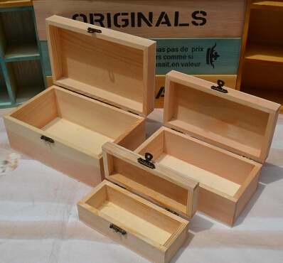 Small finished wooden boxes wholesale