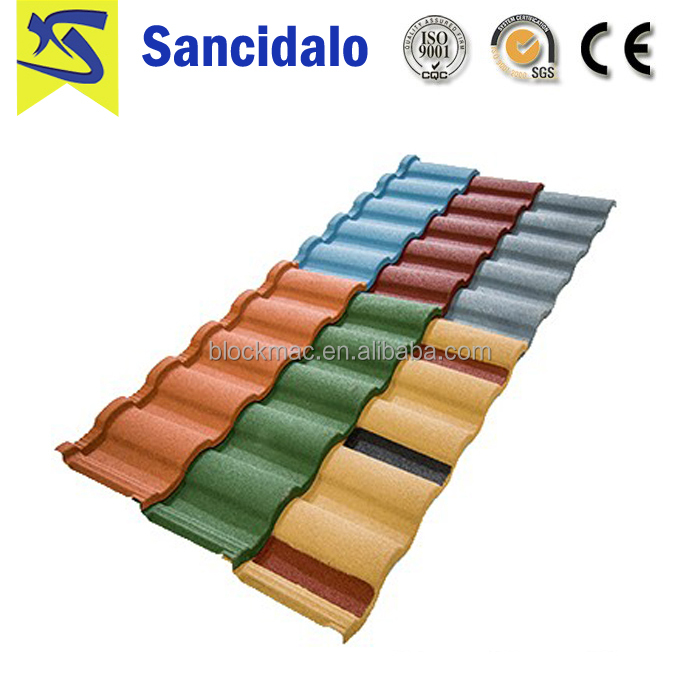Trade Assurance galvanized sun stone coated metal roof tile With CE and ISO9001 Certificates