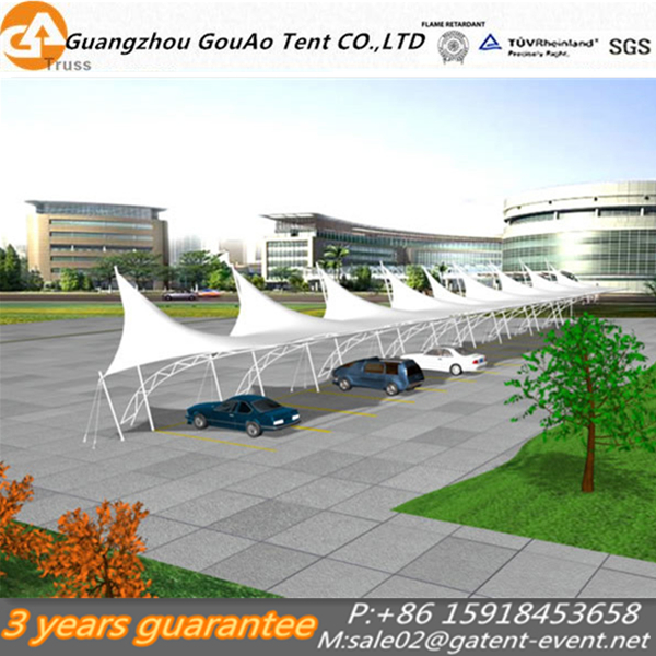 China supplier steel car parking shed tent car parking shelter Architecture Membrane