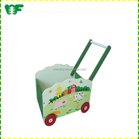 Hot sale wholesale wooden lovely baby doll stroller toy