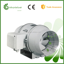IP44 Energy saving frequency conversion axial mixed flow inline duct fan