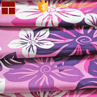 Hawaii style woven cotton poplin printed shirt fabric