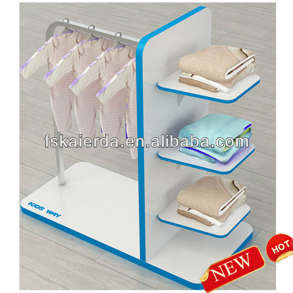 Wooden Kids And Baby Clothes Display Rack/Clothes Display Rack For Kids