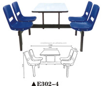 Space saving school canteen student dining table restaurant table and chair