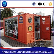 Pop-Up mobile coffee shop container design, 10ft/20ft/40ft Prefabricated food kiosk for sale shipping container coffee shop