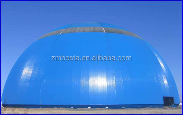 Wide used durable steel structure space frame spherical dome shed