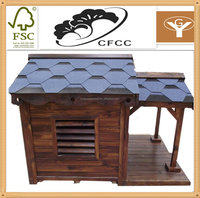 wood pine material and accept custom order large wooden dog kennel