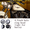 Excellent goods factory direct provide round halo ring motorcycle led light for harley davidson