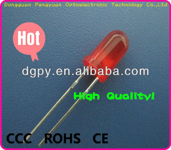 Top Factory 5mm red diffuse led Lighting Diode ( CE & RoHS )