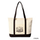 Custom Size Reusable Natural Cotton Foldable Tote Canvas Shopping Bag
