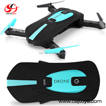 JY018 Factory Outlet 2.4Ghz WIFI Remote Control Foldable Battery powered Drone with Camera Pocket RC Helicopter
