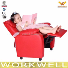 workwell geniues pu leather children recliner sofa with wood and steel frame Kw-Cs09