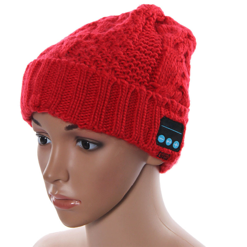 Fashion Wireless Bluetooth Knitted Hat Smart Wool Cap Headset Headphone Speaker Mic For iPhone Freeshipping&Wholesale