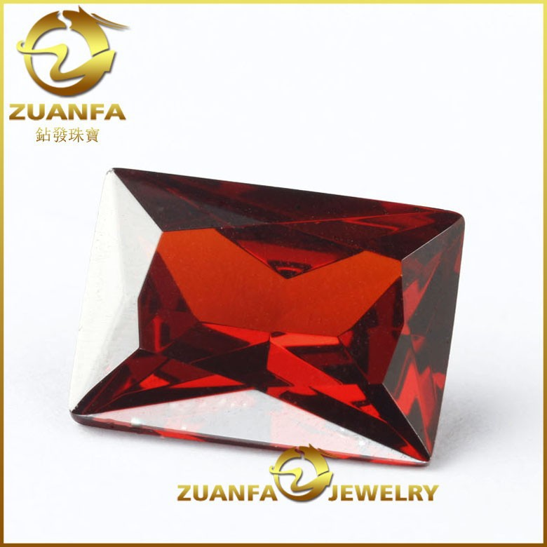Wu Zhou rectangle cut garnet The Cheapest synthetic Imitation rectangle cubic zirconia