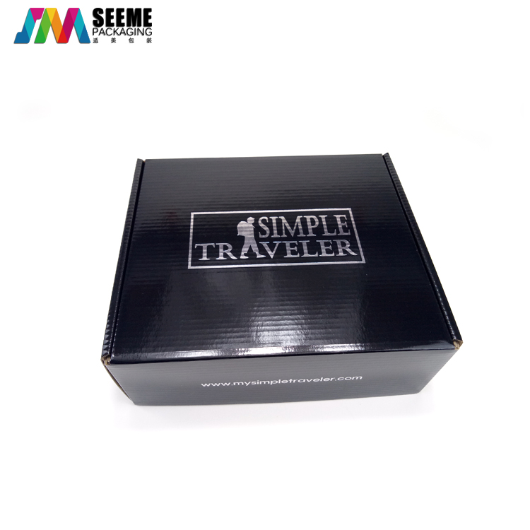 2020 Good Quality Black Glossy Aircraft Mailer Packaging Gift Box Corrugated Paper Box