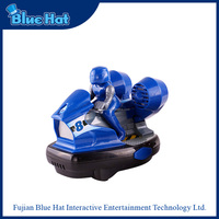 Blue-black wireless small plastic bumper toy car for big kids