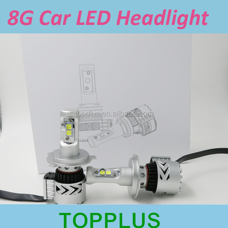 8G Super brighter H4 auto led headlamp replace hid xenon kit high power motorcycle headlight