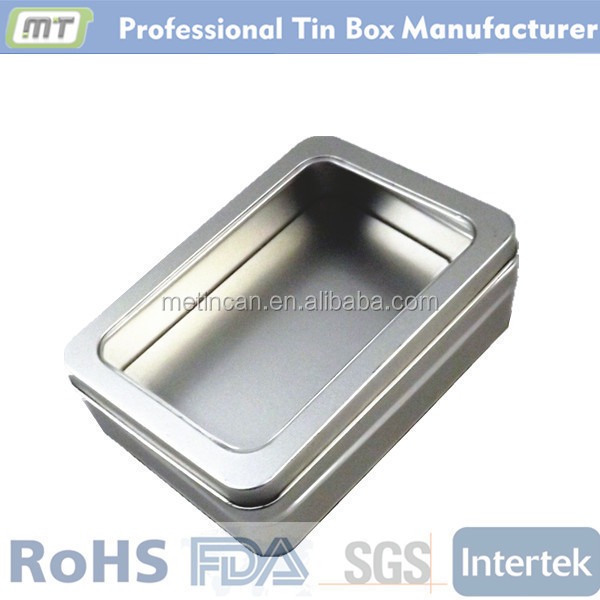 rectangular golf gift tin with window
