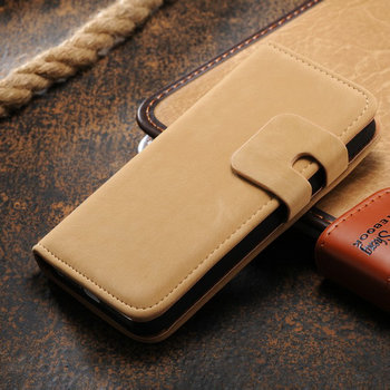 Comfortable grip wallet stand leather case for Iphone5 /5g/ 5s, phone case for Ip5