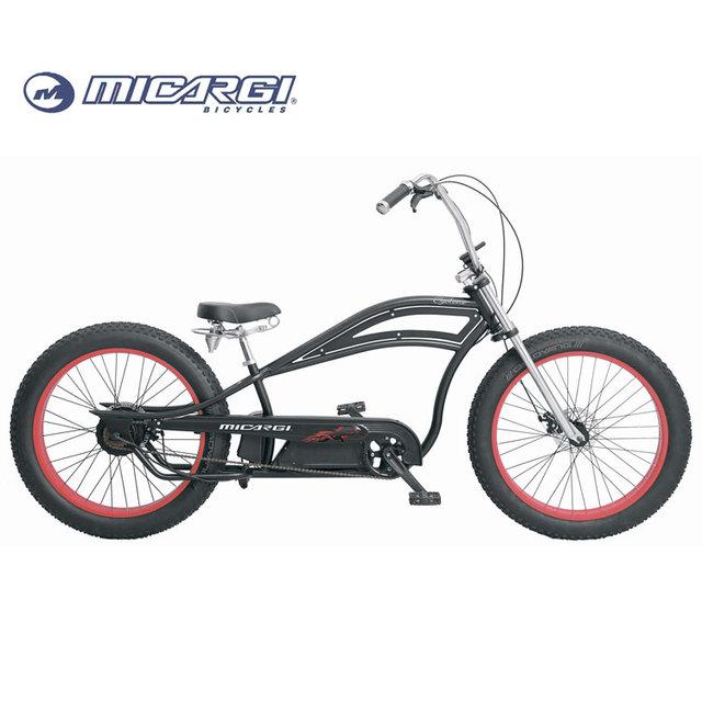 Micargi 26x4.0 fat tire electric bicycle CYCLONE GT adult chopper style e bike china electrical Bicicleta
