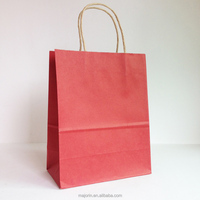 Hot sale recycle eco friendly brown paper bag shopping kraft paper bag