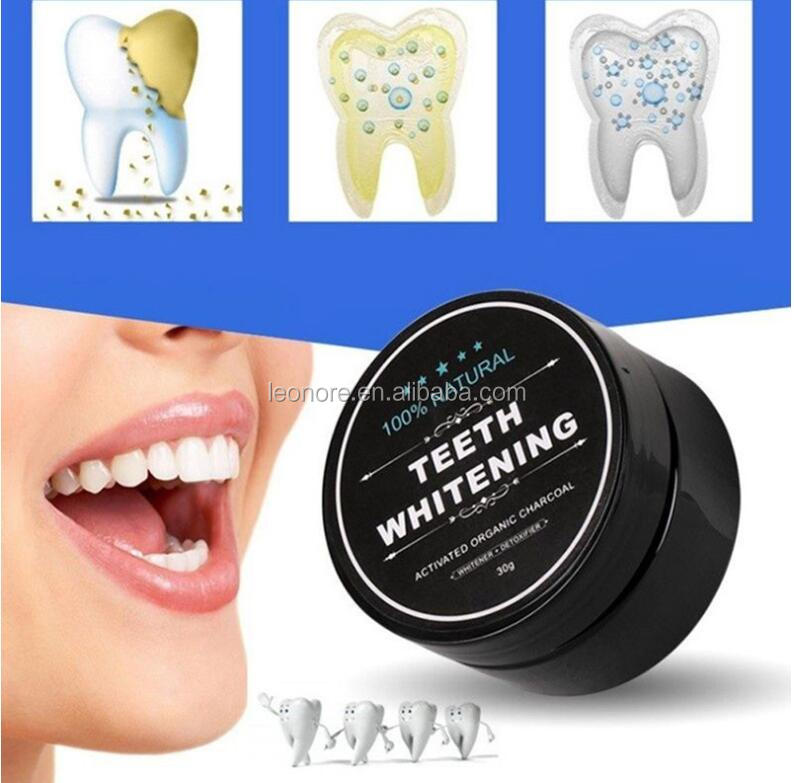 Teeth Whitening Function and Black Color Activated Organic Charcoal