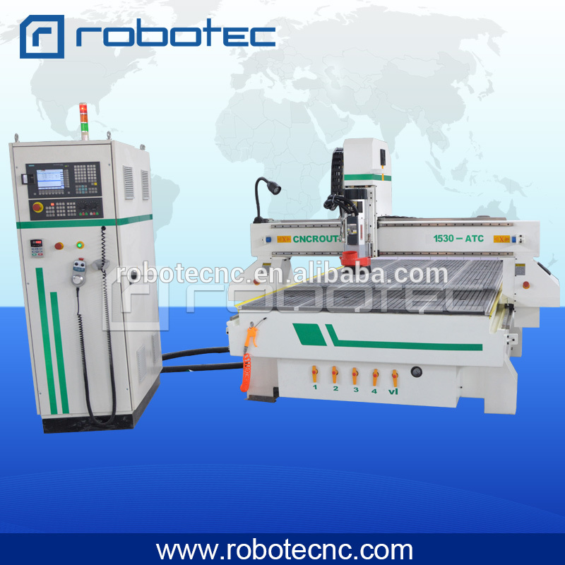 High-end 1530 auto tool changer cnc wood ATC cnc router with servo motor