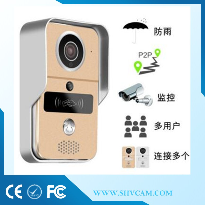 Home security wifi door bell wireless with connects WiFi from China