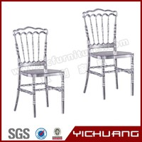 Plastic Material and Modern Appearance Clear Crystal Resin Napoleon Chair with Cushion YCX-A61