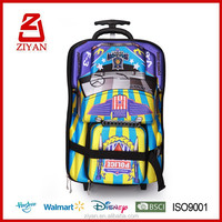 3D EVA Kids brand names trolley bag wholesale children school bags