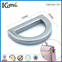 Custom handbag metal d ring with engraved logo