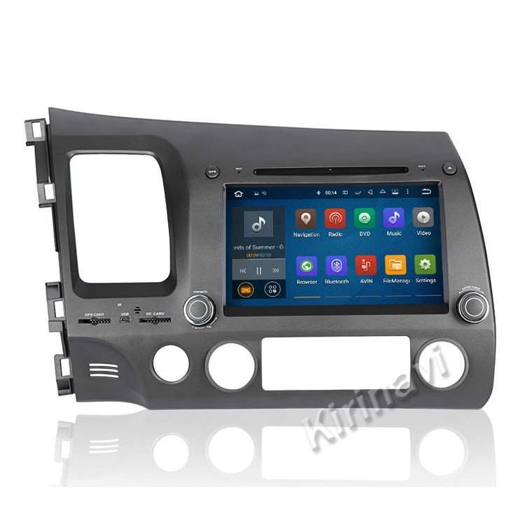 Kirinavi WC-HC7658L android 5.1 car pc bluetooth for honda civic 2006-2011 touch screen car dvd player steering wheel control