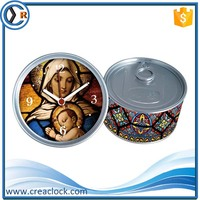 christian product wholesal party return giftspersonalized gifts table desk tin can wall clocks