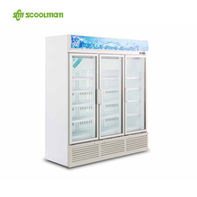 Reach In Glass Door Display Chiller/Glass Door Display Fridge