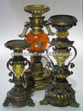 Custom polyresin traditional antique candleholders