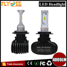 6500k CSP 4000lm Top seller hellas led headlights conversion kit H4 H7 with fanless led bulb