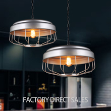 New products 2017 American industrial creative silver iron pendant light for Cafe Restaurant Bar Clothing room
