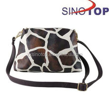 1.2m shoulder strap Leopard Pattern PU leather Sling bag for lady with Polyester Lining