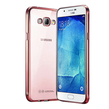 Factory Wholesale Electroplate Transparent Soft TPU Case for Samsung J7
