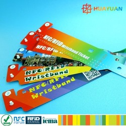 Fairs / Exhibition entrance ticket MIFARE Classic EV1 1K disposable wristband