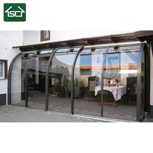 All weather Terrace aluminum sunroom with polycarbonate sheet 100% UV protection
