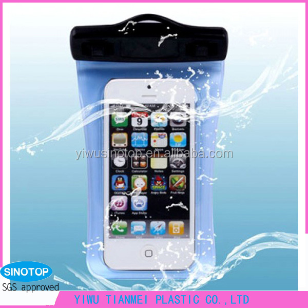 High quality PVC ABS waterproof smartphone bag mobile case yiwu