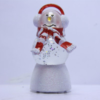 Acrylic Color Changing Water Gobe Snowman