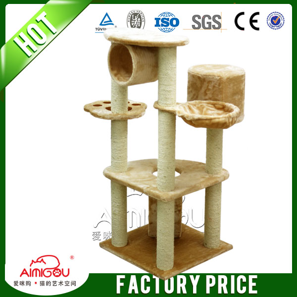 Best selling pet products outdoor furniture 2015 new design cat tree house wooden