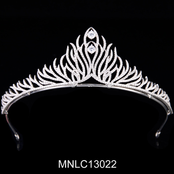 Hot selling fashion bling zircon tiara headband