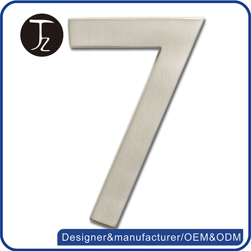 Special designer colorful stainless steel house number