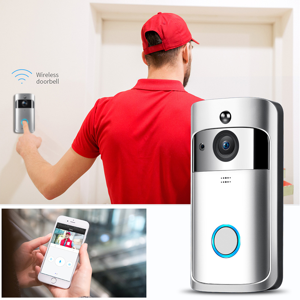 Home Smart door bell with camera/ring wi-fi enabled video doorbell